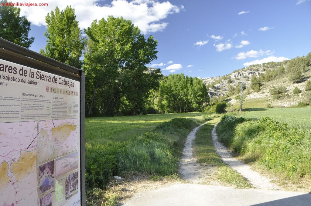 """Inicio de la Senda """"La Fuentona"""" desde la Casa del Parque"""