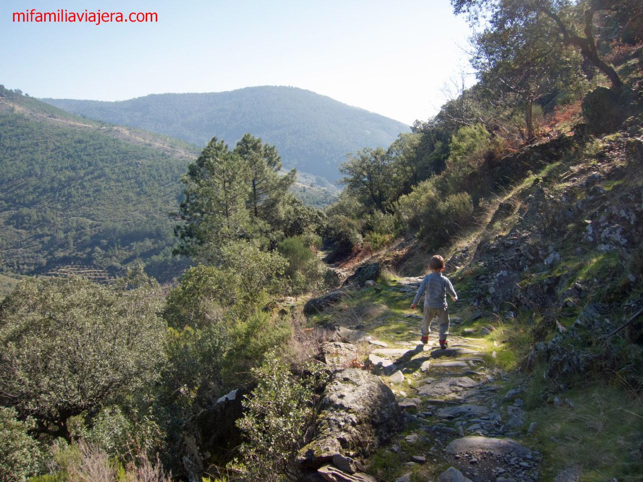Senda Chorrituelo de Ovejuela por el camino de Robledillo, Las Hurdes