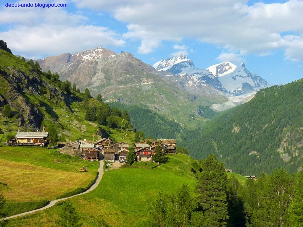 Vistas del valle de Zermatt