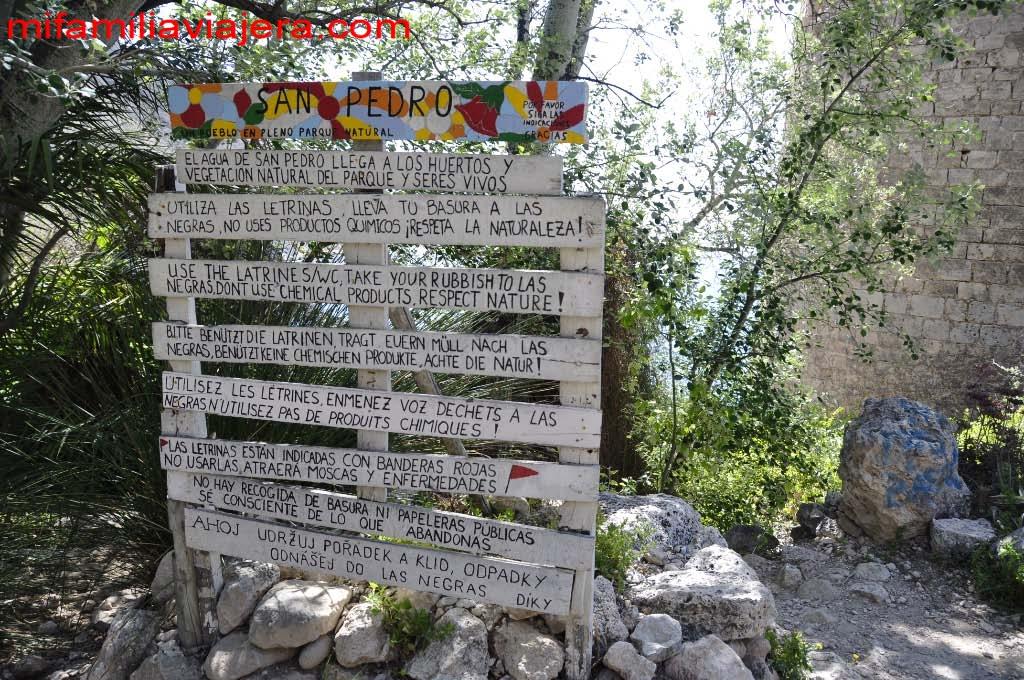 Cartel del poblado de San Pedro