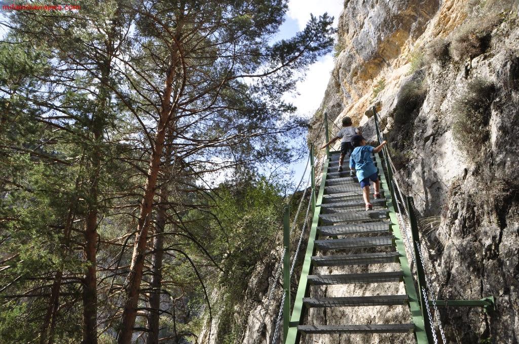 Escaleras metálicas del desfiladero del Río Blanco