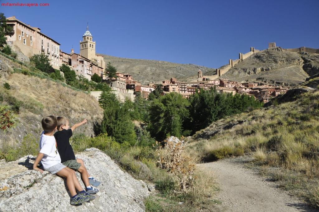 Vista de Albarracín desde el SL-TE 48