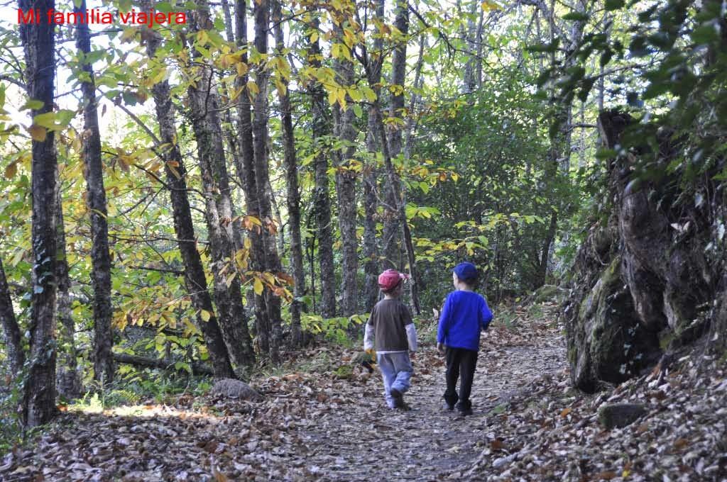 Rutas de senderismo en otoño con niños