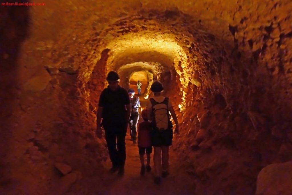 Conductos de la antigua mina romana