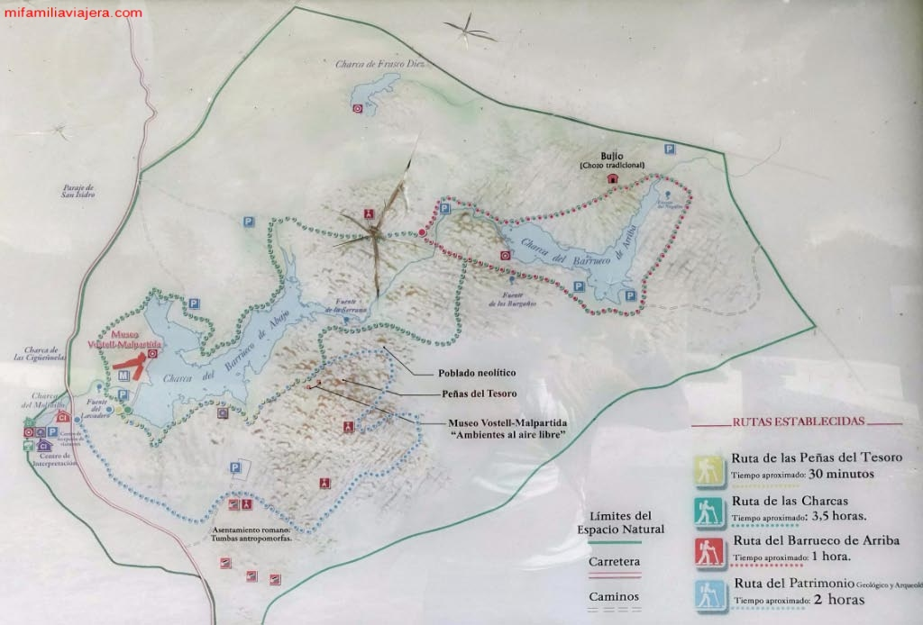 Mapa de Los Barruecos