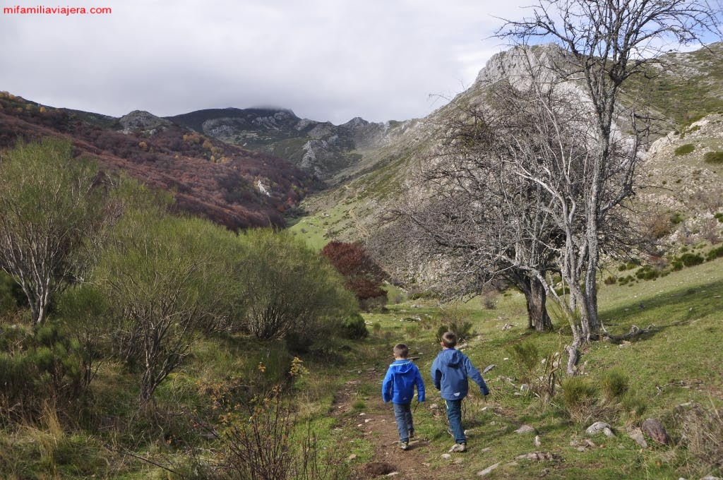 Descenso hacia el valle de Palanco