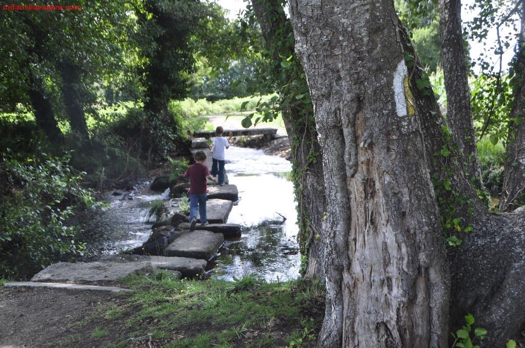 Pontones sobre el arroyo