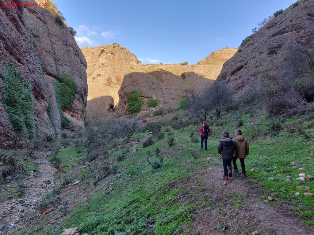 Senda hacia el Barranco de Badén