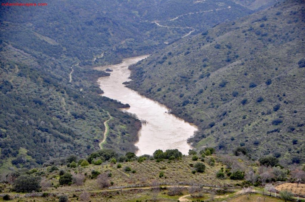Meandros del Duero desde el Mirador de la Faya