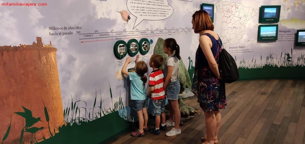 Paneles interactivos del Museo de la Ciencia de Valladolid