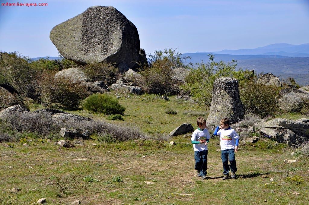 Formaciones graníticas ovaladas