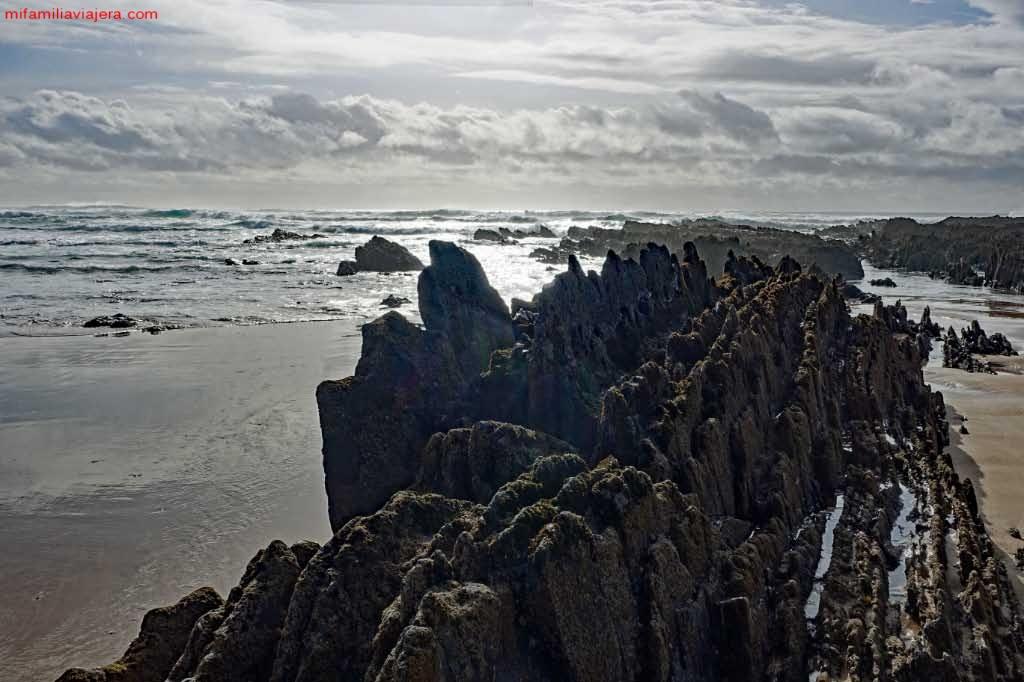 Playa semisalvaje de Amoreira