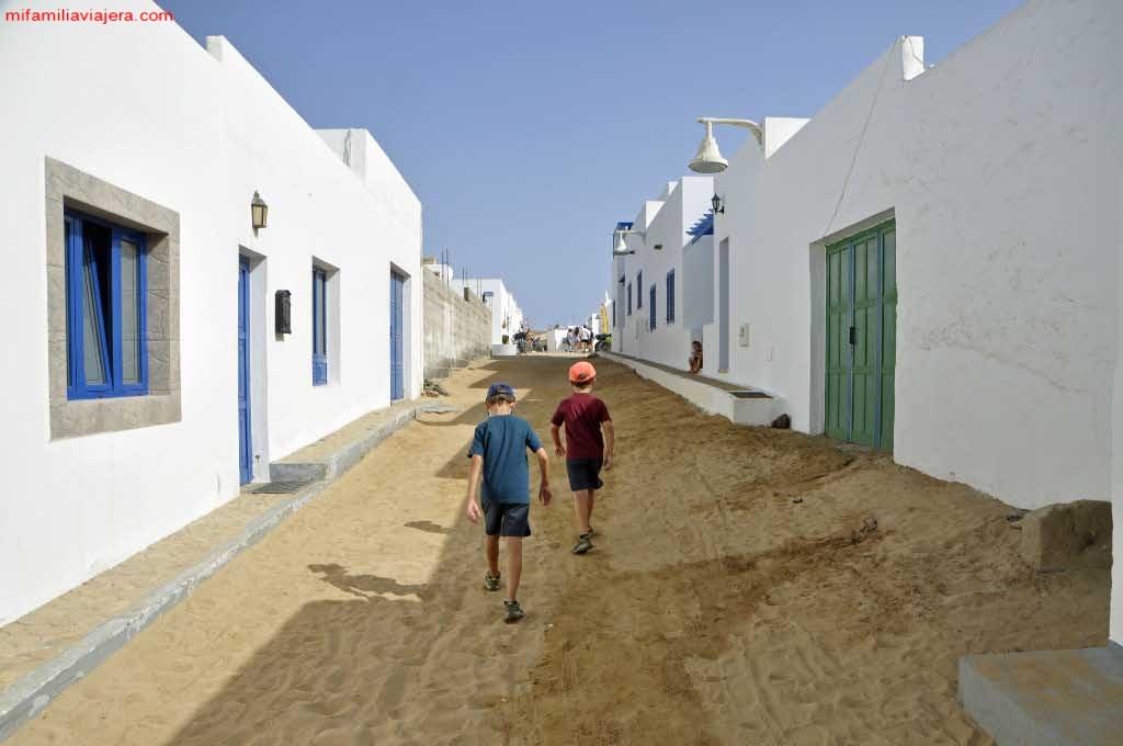 Calles de la Isla de La Graciosa